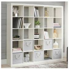 large white wall bookcase 25 cube unit storage display stand room divider 71 46