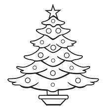 Coloring Page Christmas Tree New Coloring In Christmas Tree Fresh