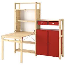 Купить <b>ИВАР</b> Стеллаж со столом/шкафами/ящиками, сосна ...