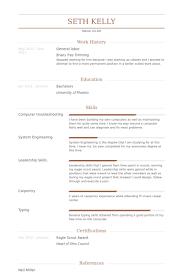 Resume For General Job General Worker Resume Samples Visualcv