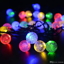 outdoor decoration led solar string light 30 led ball shape decor lighting backyard garden ornaments for wedding or event party string outdoor