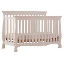 Stork Craft Carrara 4 in 1 Fixed Side Convertible Crib - White