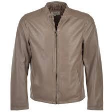 leather jacket taupe scott