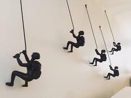 5 piece climbing sculpture wall art gift for home decor interior design rock climber climbing man contemporary artwork resin