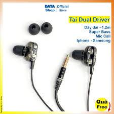 Tai nghe Dual driver E26 E29 Jack tròn 3,5mm loa kép siêu bass, tay nghe có  mic nghe gọi cho iphone samsung xiaomi tại Thái Bình