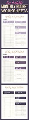simple printable budget worksheet free printable monthly budget worksheets