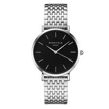 rosefield watches for from tic watches uk lades and mens uebs u25 the upper east side black silver stainless steel ladies watch
