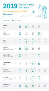 Travel Calendar Travel Calendar 2019 Skyscanner India