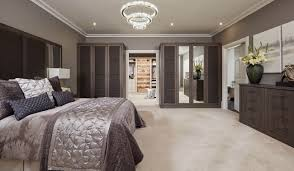 contemporary fitted bedroom furniture. This Bedroom Features Opulent, Padded Doors And Headboards Combined With The Warm, Contemporary Anthracite Larch Finish. Fitted Furniture U