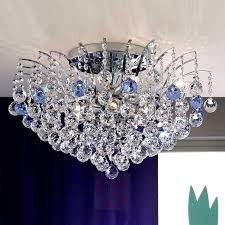 lennarda crystal ceiling light blue cm lightscouk
