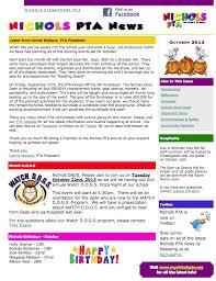 Newsletters Nichols Elementary Pta Newsletters Pta President