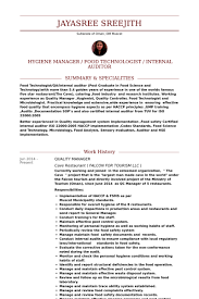 Quality Manager Resume samples