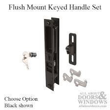 keyed mid hook flush mount handle set sliding patio door choose color