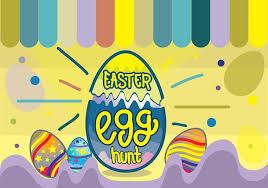 Colorful Easter Egg Hunt Funky Pop Background Stock Images