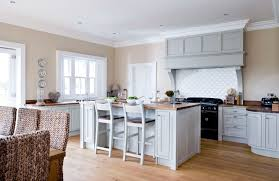kitchens ireland.  Kitchens Painted Grey Kitchen With Walnut Work Surfaces Co Tipperary Intended Kitchens Ireland L