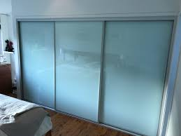 3 door frosted glass sliding wardrobe