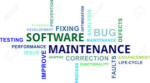 software maintenance a word cloud of software maintenance related items royalty free