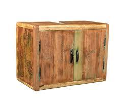 Woodkings Bad Waschbeckenunterschrank Kalkutta Recyceltes Holz Bunt Rustikal Hängebad Waschtischunterschrank Hängend Badmöbel Badezimmer