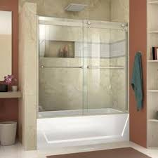 Image Shower Dreamline Essenceh 56in To 60in Semiframeless Brushed Lowes Shower Doors At Lowescom