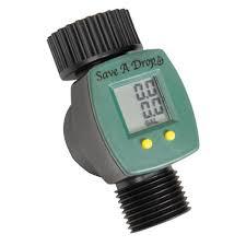 garden hose flow meter easy to read lcd water meter rain barrels conservation