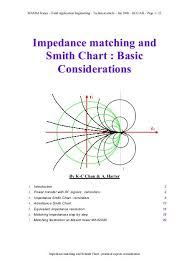 How To Read A Smith Chart Impedance Matching And Smith Chart Basic Considerations