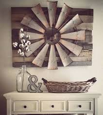 vintage look wooden wall art