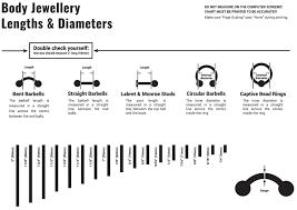 Body Jewelry Measurement Chart Body Jewellery Sizing Oz Body Jewellery Jewellery For