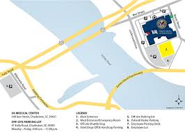location of parking and entrances at the ralph h johnson va cal center