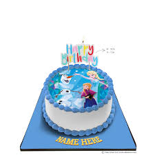 Disney Frozen Princess Cake With Happy Birthday Candle