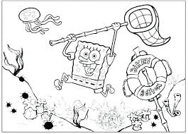 Nick Jr Coloring Pages Spongebob Easter Free Com Fascinating Page