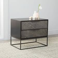 industrial furniture table. Slate Industrial Bedside Table; Table Furniture 0