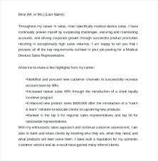Sample Medical Representative Cover Letter Sales Cover Letter Sample