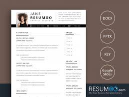 Modern Sleek Resume Templates Template Cv Design Word Free Modern Template Word Resume