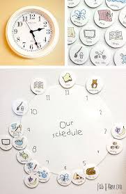Simple Clock Schedule For Kids Kids Schedule Clock For