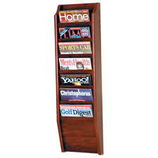 newspaper rack for office 7 pocket wall mount office decor tier wooden d86 for