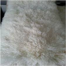 details about 1x beige real fur blanket throw mongolian sheepskin tibetan lambskin the block
