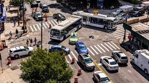 Image result for traffic congestion on street corner