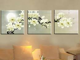 mooonshine white flowers 3 panels modern artwork canvas prints in floral canvas wall art  on white floral canvas wall art with 10 best of floral canvas wall art
