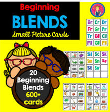 Blends Picture Cards For Small Pocket Charts By Star Kids