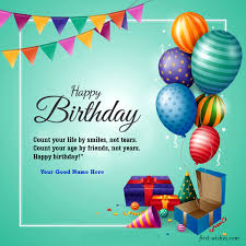 birthday wishes images with name free