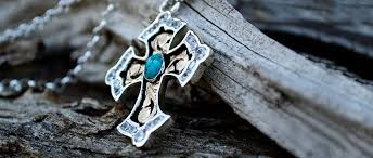 rimrock blue turquoise crystal cross pendant crosses hyo silver hyo silver necklace