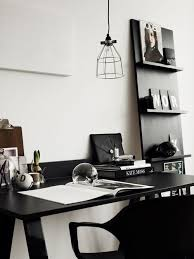 black white home office inspiration. black and white minimal workspace inspiration home office desk work i