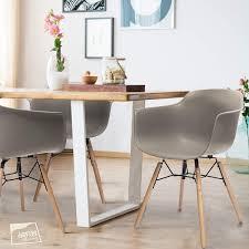 Ltd Edition Living Flex Esszimmerstühle Mild Grau Mit
