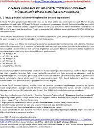 E-FATURA UYGULAMASINI GİB-PORTAL YÖNTEMİ İLE KULLANAN MÜKELLEFLERİN DİKKAT  ETMESİ GEREKEN HUSUSLAR - PDF Free Download