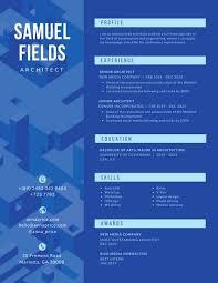 canva modern resume templates blue architect modern resume templates by canva