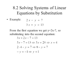 8 2 solving systems of linear equations by substitution