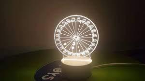Đèn Ngủ 3D - Đèn Led 3D Đu Quay   Đèn ngủ, Đèn led, Đèn