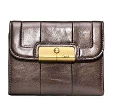 Coach Kristin Leather Medium Wallet 45113 Bronze
