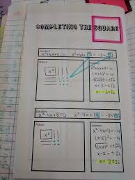 solving quadratics by completing the square foldable for inb