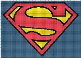 Superman Logo Comic Book Digital Counted Cross Stitch Pattern Needlepoint Chart Ebay